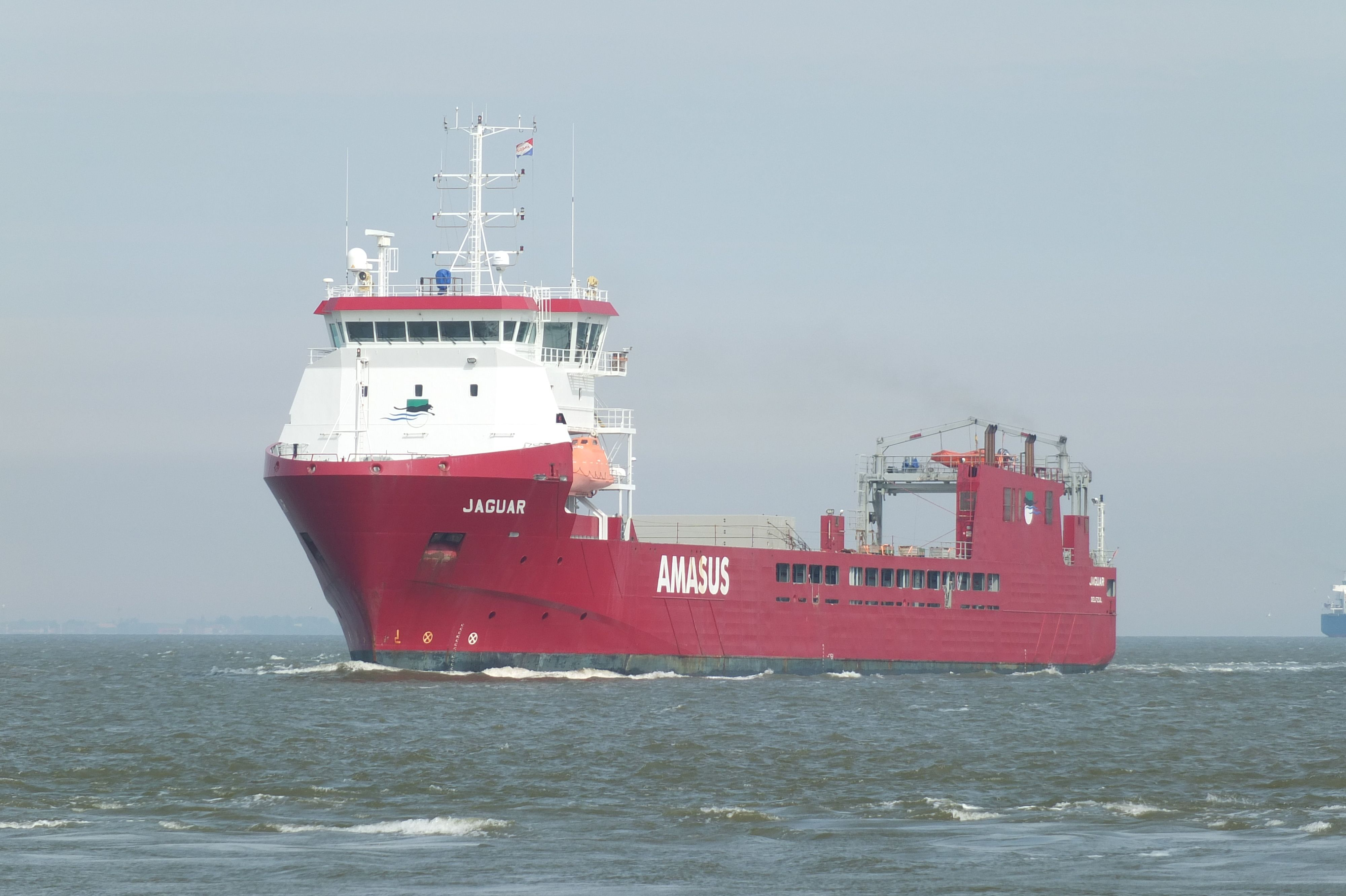 mv Jaguar spotted in Eemshaven